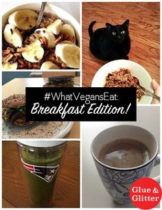 Check out what vegans eat for breakfast on a typical morning, including a somewhat shameful confession about my own breakfasts these days.
