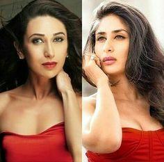 Sisters Karishma and Kareena Kapoor Karisma Kapoor, Kareena Kapoor Khan, Ladies Tops, Bollywood, Sisters, Actresses, Lady, Celebrities, Beauty