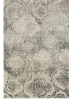 Aquarelle Grey Contemporary Rug - designer modern rugs