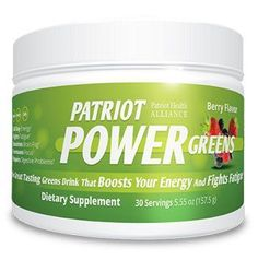 Patriot Power Greens Reviews Healthy Drinks  Each serving of Patriot Power Greens comes with 38 different fruits and vegetables, 10 strains of probiotics, and 7 digestive enzymes. Each serving of the beverage contains 10 calories per serving with no added sugar and no artificial sweeteners. http://www.easybodyfit.com/patriot-power-greens/