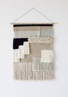 52 Ideas For Wall Hanging Woven Tapestries Weaving Tapestry Weaving, Weaving Art, Loom Weaving, Hand Weaving, Art Fibres Textiles, Textile Fiber Art, Weaving Wall Hanging, Tapestry Wall Hanging, Wall Hangings