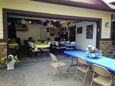 Graduation Party Ideas: Garage Party 8th Grade Graduation, Garage Design, Tumblr Wallpaper, Tool Organization, Rv Campers, Corner Desk, Conference Room, Diy Ideas, Dining Table