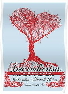 The Decemberists - Concert Poster Posters Framed Prints, Canvas Prints, Art Prints, The Decemberists, Concert Posters, Music Posters, Album Covers, Greeting Cards, Iphone Cases