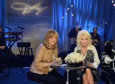 """(EXCLUSIVE COVERAGE) QVC Host Carolyn Gracie and Dolly Parton during Dolly Parton Q Sessions featuring """"Blue Smoke"""" QVC Presents A Night In ..."""