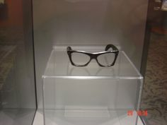 Buddy Holly's last pair of glasses.  Buddy Holly Center, Lubbock, Texas. (They were found at the site of the crash)