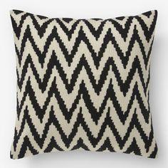 Chevron Crewel Pillow Cover - Iron | West Elm