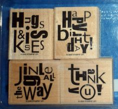 Scrapbooking Stampin' Up ALPHABET SOUP 4 Rubber Stamps 2006 TE11