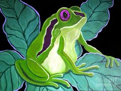 Purple Eyed Frog Painting by Nick Gustafson - Purple Eyed Frog Fine Art Prints and Posters for Sale