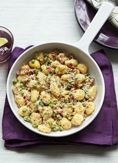 Won't make again. Not great. Gnocchi with peas and pancetta