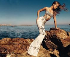 """collections-from-vogue: """"Eniko Mihalik in """"La Costa Brava"""" Photographed by Nico & Styled by Barbara Martelo for Harper's Bazaar Spain, June 2012 """" Donatella Versace, Gianni Versace, Atelier Versace, Barbara Martelo, High Fashion, Fashion Beauty, Women's Fashion, Timeless Fashion, Vogue Spain"""