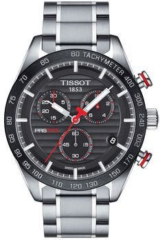 Tissot PRS 516 Quartz Chronograph Tissot PRS 516 series takes time to reflect on its motorsport-inspired origins. Wearers of the Tissot PRS models are equipped with timepieces integrating the innovations in Swiss watchmaking to complement nostalgic Men's Watches, Sport Watches, Luxury Watches, Cool Watches, Watches For Men, Jewelry Watches, Cheap Watches, Wrist Watches, Fashion Watches