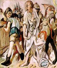 Max Beckmann - Christ and the Woman Taken in Adultery - 1917 - St. Louis Art Museum, St.Louis, Missouri.