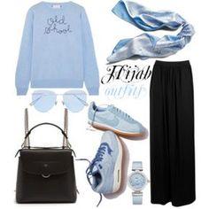 #Hijab_outfits #Blue