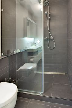 Below is a tiny bathroom design that said that reasonably fulfills a straightforward, minimal, modern-day as well as elegant interior design. Small Bathroom With Shower, Loft Bathroom, Bathroom Toilets, Bathroom Design Small, Budget Bathroom, Bathroom Fixtures, Bathroom Renovations, Modern Bathroom, Toilet Design
