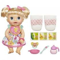 Boneca Baby Alive Comer E Brincar Loira - Hasbro