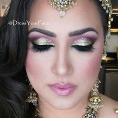 .@Crystal Lopez | A closer look at the formal Bollywood-style reception makeup I did on the bea... | Webstagram - the best Instagram viewer