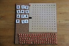 homemade montessori math board