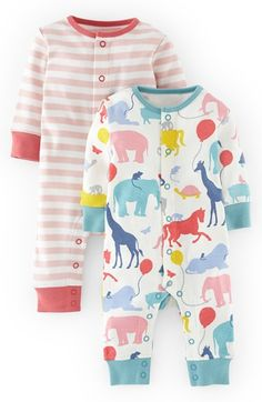 Mini Boden Cotton Rompers (2-Pack) (Baby Girls) available at #Nordstrom