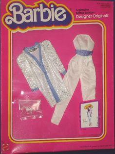 Barbie Doll White Delight Superstar Era Outfit MIB Designer Originals 1981 | eBay