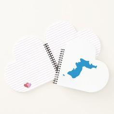 Korean Unification Flag Notebook Custom office supplies #business #logo #branding