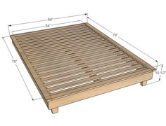 Ana White | Build a Hailey Platform Bed | Free and Easy DIY Project and Furniture Plans