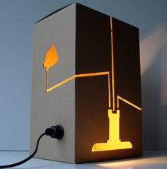 very simple yet beautiful cardboard lamp to DIY