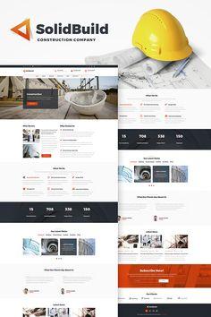 WordPress Template , SolidBuild - Construction Company