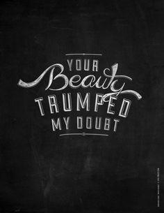 Your beauty - Mumford & Sons Art Print
