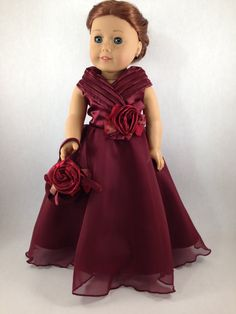 American Girl Ball Gown with Matching Purse - Special Occasion Doll Clothes. Doll Dresses and Gowns. American Girl Clothes, Girl Doll Clothes, Girl Dolls, American Girls, Fancy Prom Dresses, Doll Fancy Dress, Girls Blue Dress, Girls Dresses, Doll Dresses