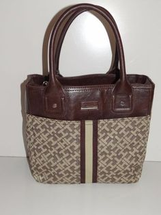 Tommy Hilfiger Women's Gold/Brown Small Tote/Handbag/Purse/Shopper  NWT SALE #TommyHilfiger #TotesShoppers
