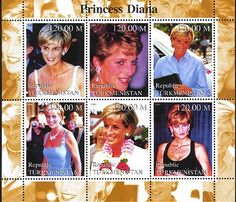 Diana stamps of Turkmenistan***