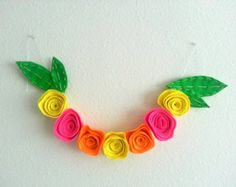 Neon Floral Garland | Wedding Decor | Party n Event Decor | Home Decor by The Decor Room