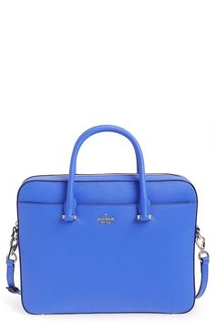 Kate Spade saffiano leather laptop bag (13 Inch) in the color Adventure Blue. OMG this bag is stunning. $298.