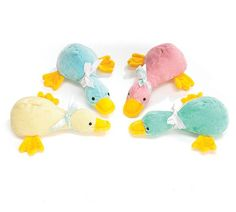 "Country Drawers Store - Ducky Rattle, $4.99 (http://www.countrydrawers.com/ducky-rattle/)    Plush ducky rattles make the perfect gift for a new baby! The ducky rattle measures 6"" from the beak to the tail."