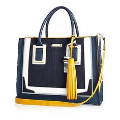 Navy large tote handbag £47.00