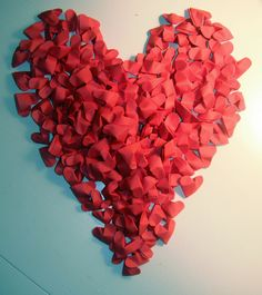 100 Origami Hearts Made To Order Red Wedding by TheMechanicalKoi, $15.00