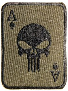 Punisher patch Funny Patches, Police Patches, Card Tattoo Designs, Aces And Eights, American Flag Art, Space Artwork, Joker Card, Punisher Skull, Tactical Patches