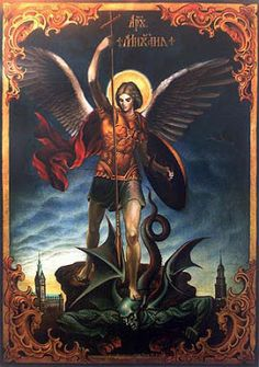 Saint Michael the Archangel, defend us in battle; be our protection against the wickedness and snares of the devil. May God rebuke him, we humbly pray: and do thou, O Prince of the heavenly host, by the power of God,thrust into hell Satan and all the evil spirits who prowl about the world seeking the ruin of souls. Amen.