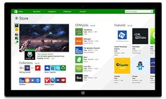 écran Windows Store sur une tablette