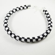 Necklace black and white checkerboard by SzkatulkaAmiJewelry gift for woman chess lover