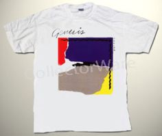 GENESIS Abacab CUSTOM ART UNIQUE T-SHIRT  Each T-shirt is individually hand-painted, a true and unique work of art indeed!  To order this, or design your own custom T-shirt, please contact us at info@collectorware.com, or visit  http://www.collectorware.com/tees-genesis_andrelated.htm