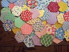 hexagons- for Grammie's quilt pieces?