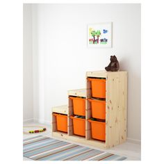 10 Indoor Playroom As Your Child's Playground 020 - Korhek Ikea Trofast Storage, Diy Toy Storage, Storage Boxes, Indoor Playroom, Playroom Ideas, Toy Organization, Organizing Toys, Kiefer, Wood