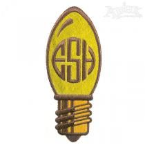 Chistmas Light Bulb Embroidery Design