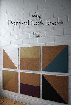 Organize in style with these #DIY Painted Cork Boards from Living YOUR Creative!: