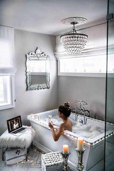 Modern Farmhouse, Rustic Modern, Classic, light and airy master bathroom design a few ideas. Bathroom makeover tips and master bathroom renovation some ideas. Diy Bathroom Inspiration, Bad Inspiration, Bathroom Ideas, Bathroom Makeovers, Bathroom Organization, Remodel Bathroom, Bathroom Designs, Bathroom Renovations, Bathroom Images
