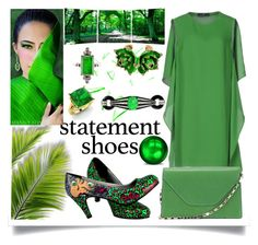 """Statement Shoes Contest"" by jeneric2015 ❤ liked on Polyvore featuring Compagnia Italiana, T.U.K., Elementem Photography, Valextra, Roberto Cavalli, Diamondere and statementshoes"