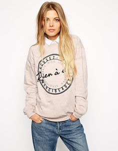 ASOS Sweatshirt with French Stamp