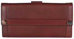 NEW Gucci Women's 231839 Incas Red Leather Continental Wallet Clutch #Gucci