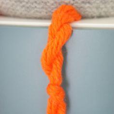 Homemade: knitted winechicken.